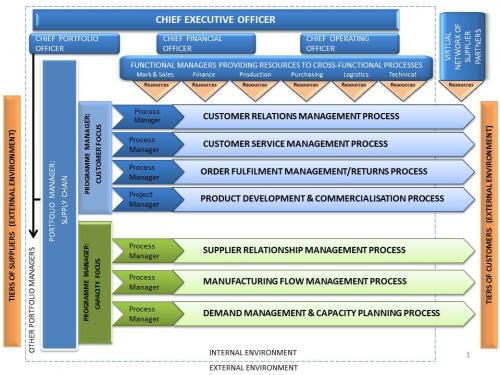 The supply chain programme management structure for a non-project-driven business model