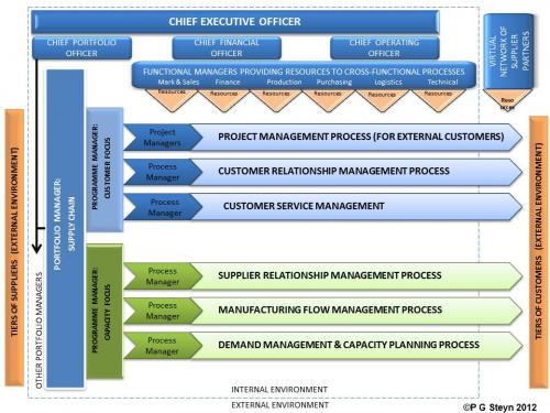 The supply chain programme management structure for a project-drivenbusiness model